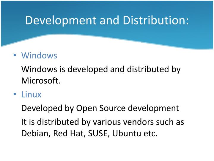 Development and Distribution: