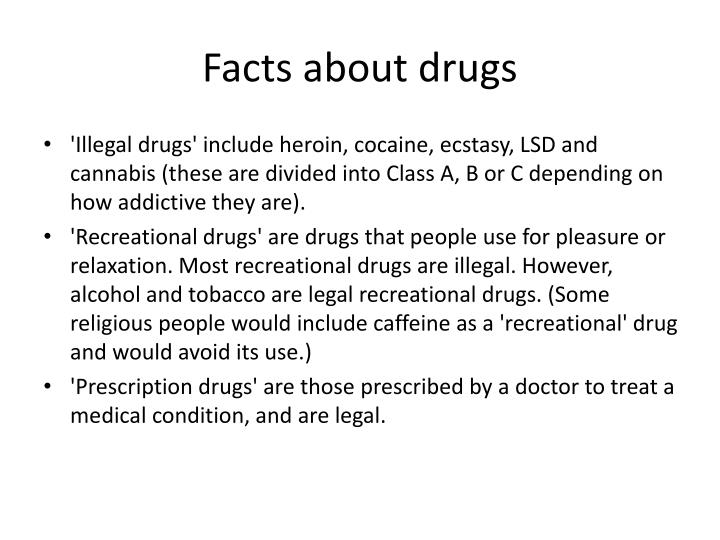 Facts about drugs