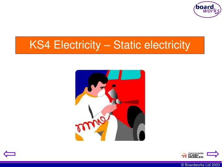 Ks4 electricity static electricity