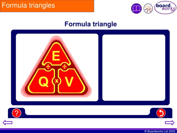 Formula triangles