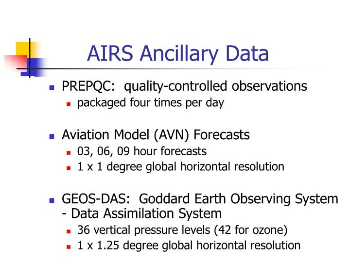 Airs ancillary data