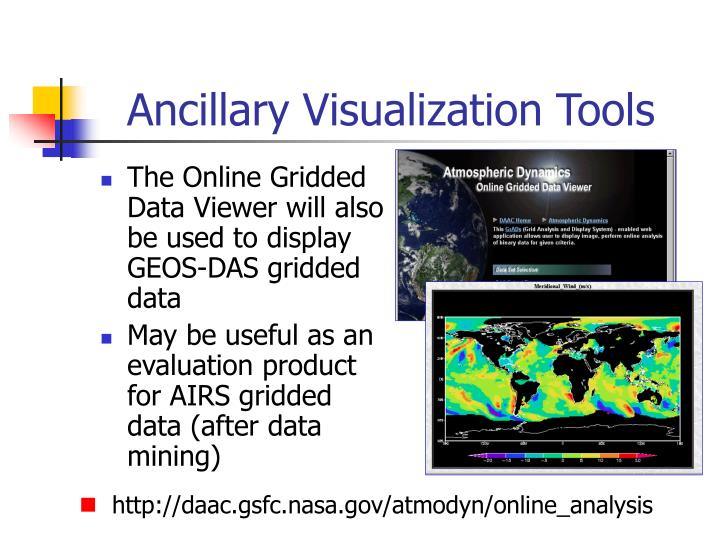 Ancillary Visualization Tools