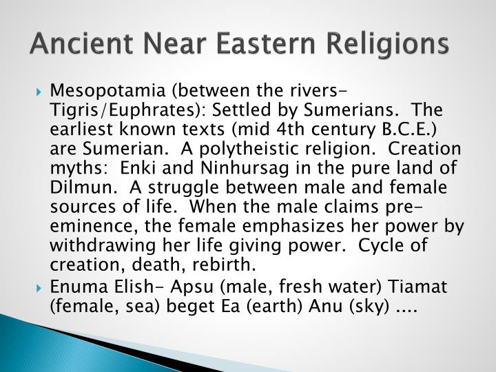 Ancient Near Eastern Religions