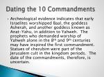 dating the 10 commandments