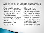 evidence of multiple authorship