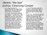 herem the ban joshua cleansing canaan