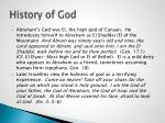 history of god