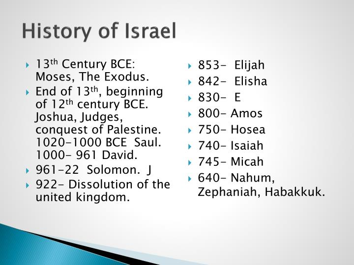History of Israel