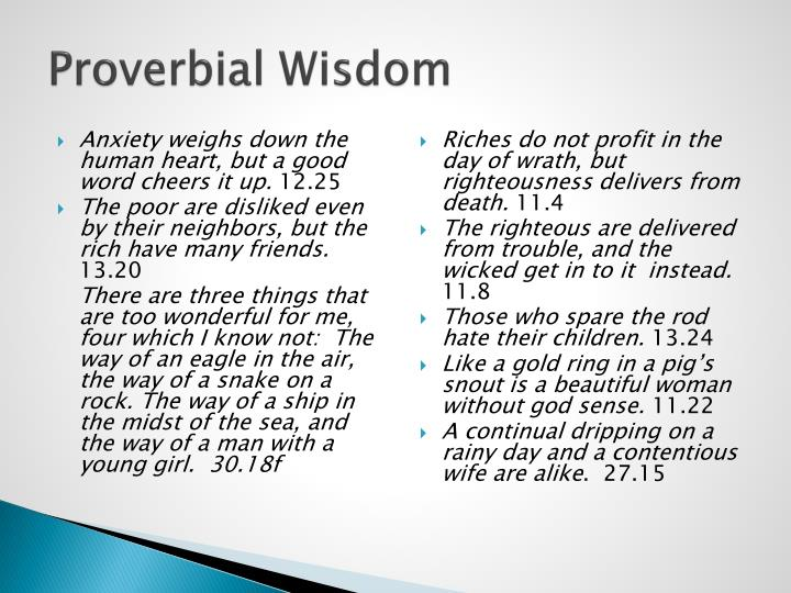Proverbial Wisdom