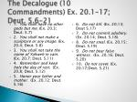 the decalogue 10 commandments ex 20 1 17 deut 5 6 21