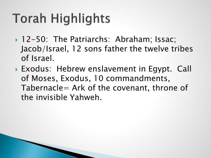 Torah Highlights