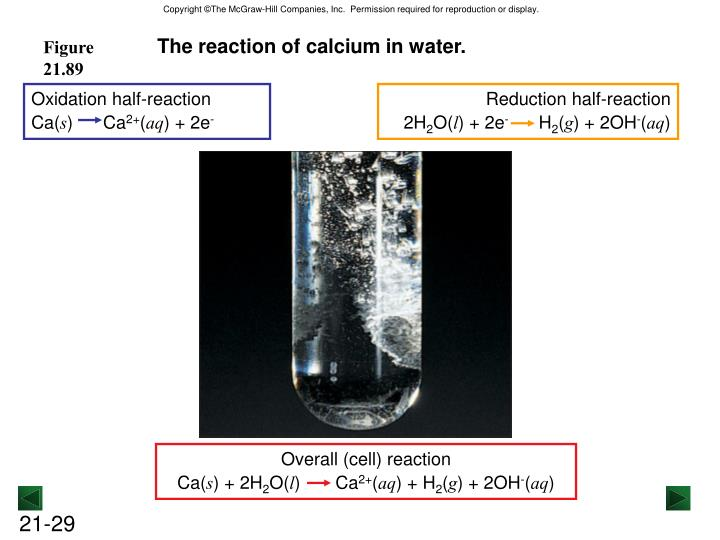 Oxidation half-reaction