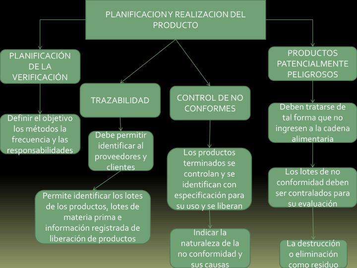 PLANIFICACION Y REALIZACION DEL PRODUCTO