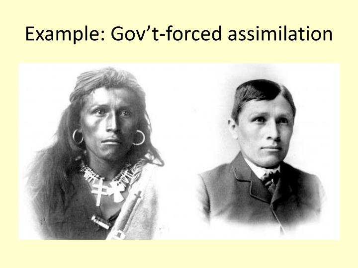 Example gov t forced assimilation