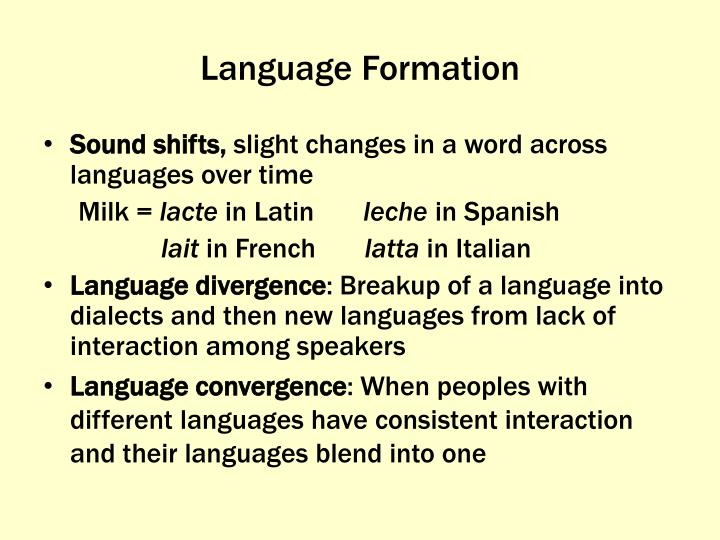 Language Formation