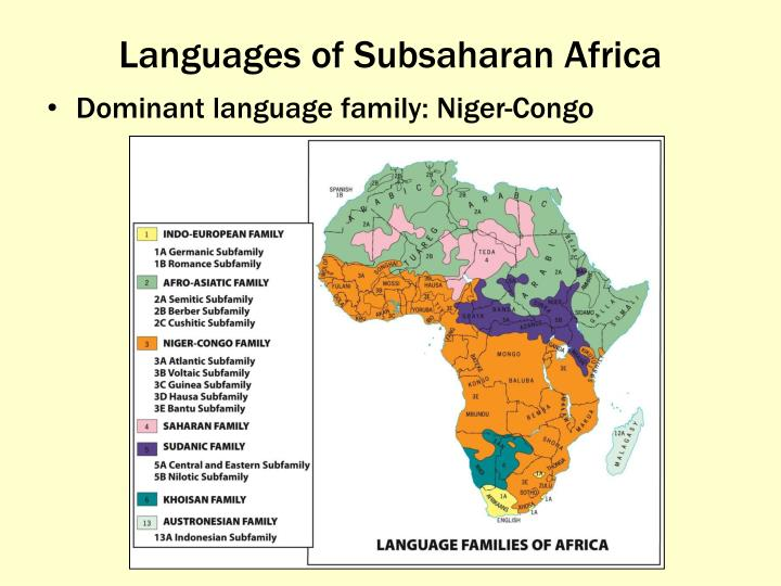 Languages of Subsaharan Africa