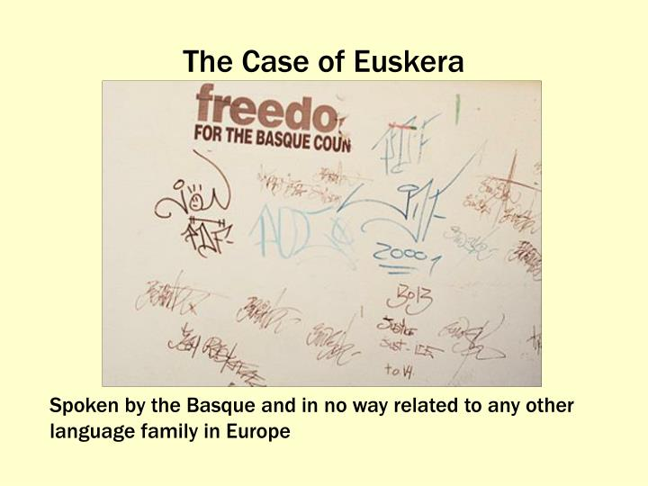 The Case of Euskera