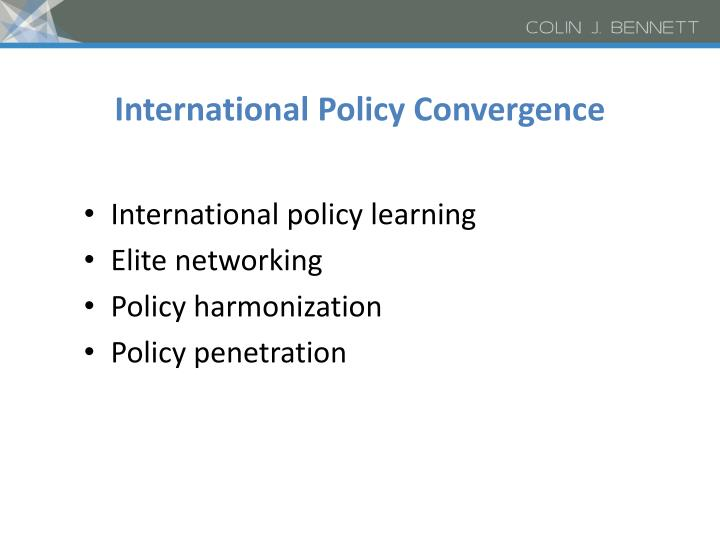International Policy Convergence