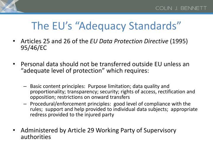 """The EU's """"Adequacy Standards"""""""