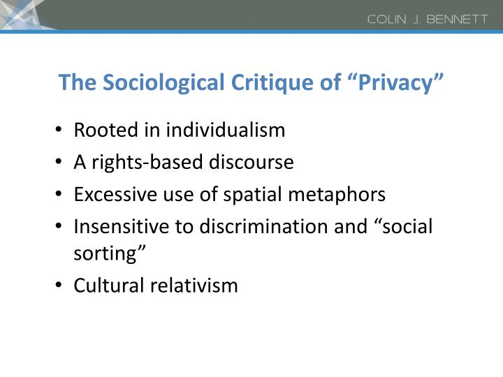 "The Sociological Critique of ""Privacy"""