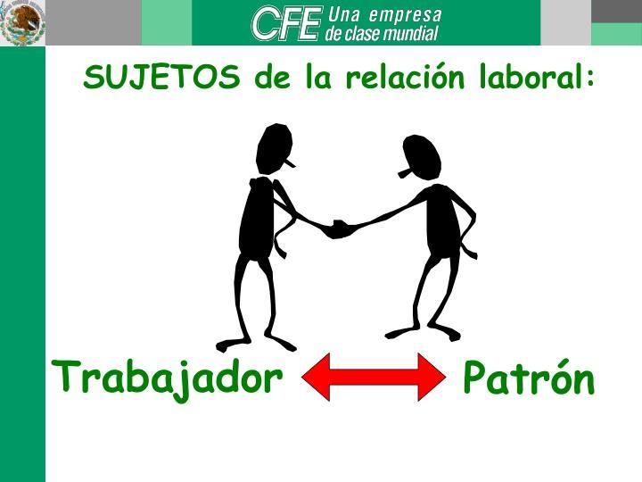 SUJETOS de la relación laboral: