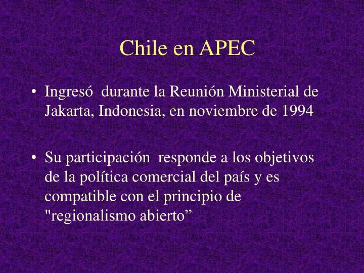 Chile en APEC