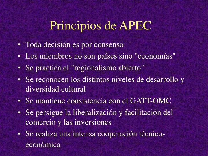 Principios de APEC