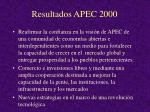 resultados apec 2000