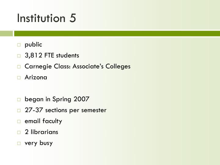 Institution 5