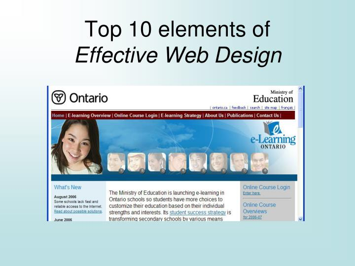 Top 10 elements of effective web design