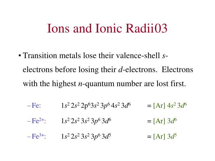 Ions and Ionic Radii03