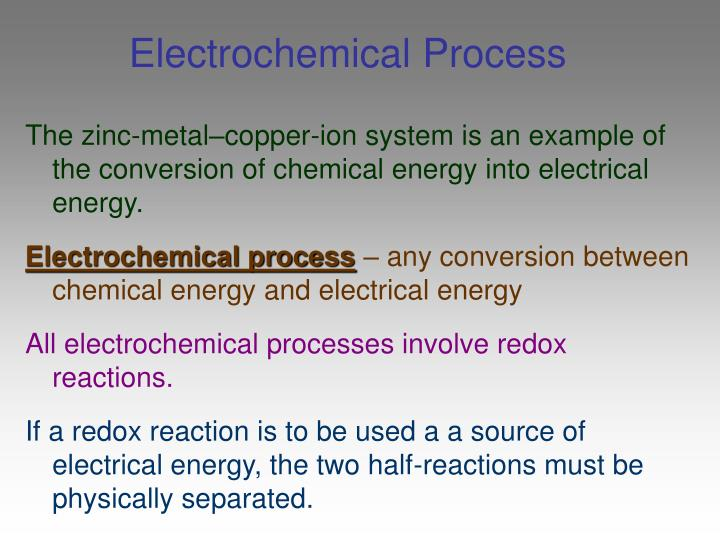 Electrochemical Process