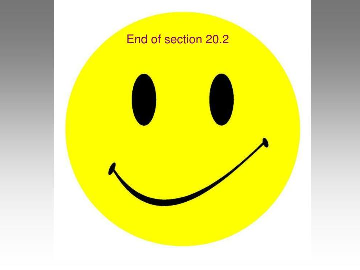 End of section 20.2