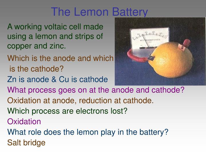 The Lemon Battery