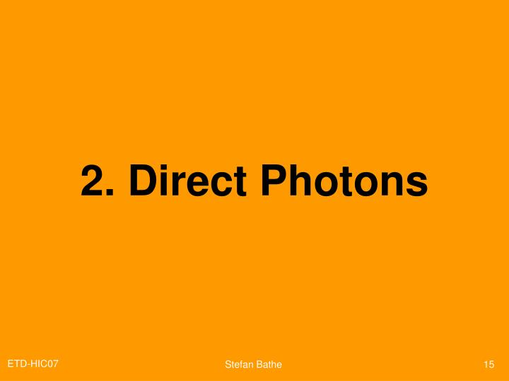 2. Direct Photons
