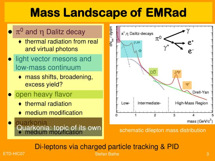 Mass landscape of emr