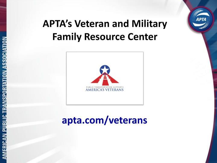APTA's Veteran and Military