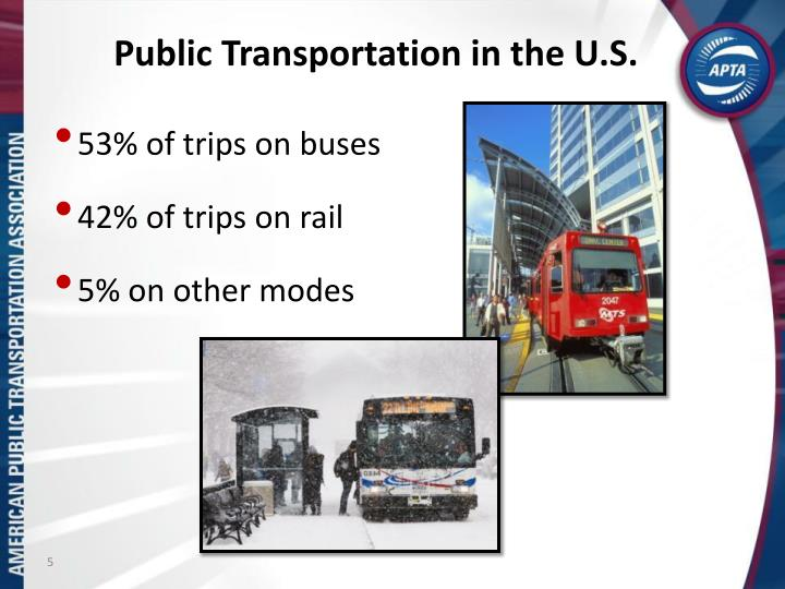 Public Transportation in the U.S.