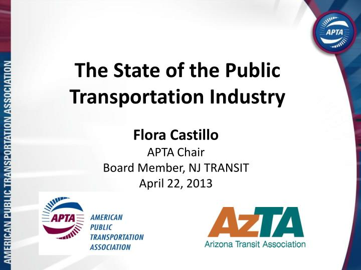 The state of the public transportation industry