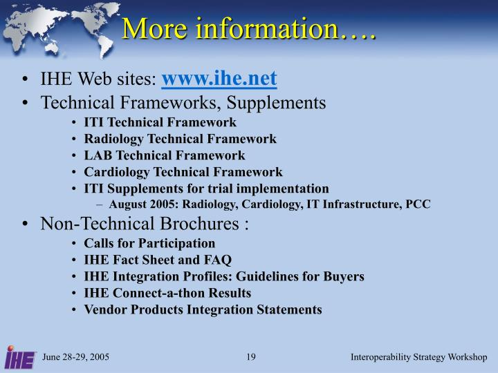 More information….