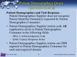 patient demographics query operation cont d3