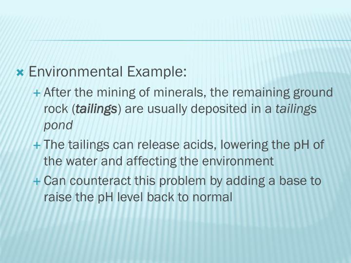 Environmental Example: