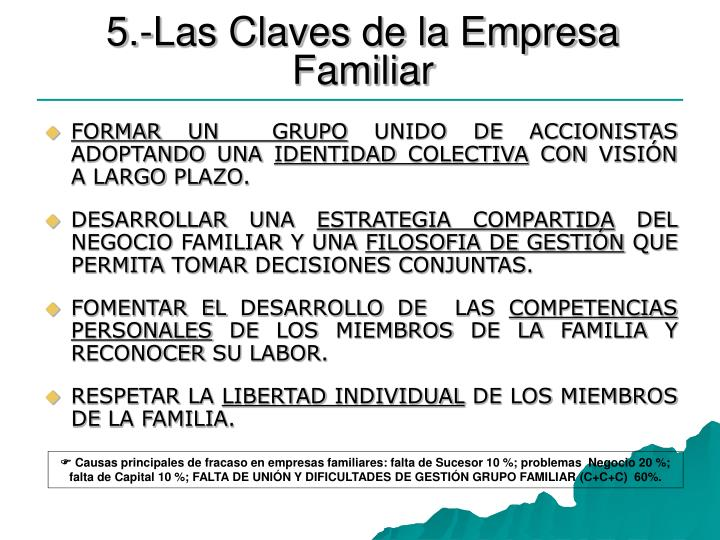 5.-Las Claves de la Empresa Familiar