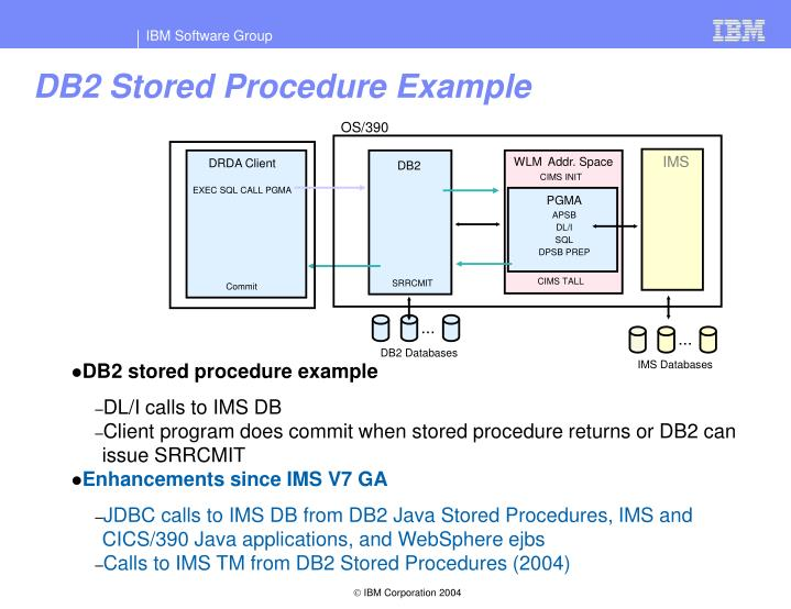 DB2 Stored Procedure Example
