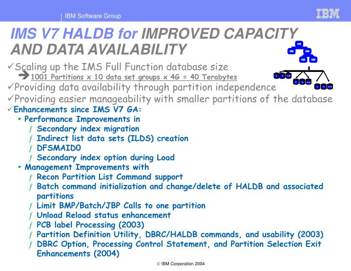 IMS V7 HALDB for