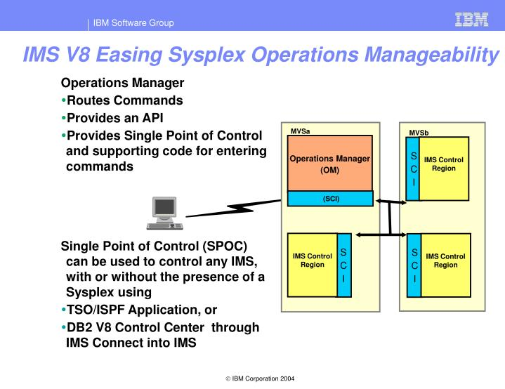 IMS V8 Easing Sysplex Operations Manageability
