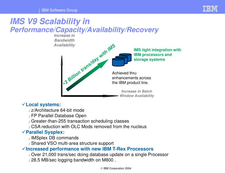 IMS V9 Scalability in