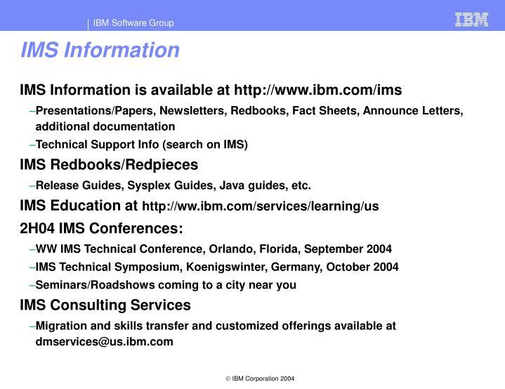IMS Information