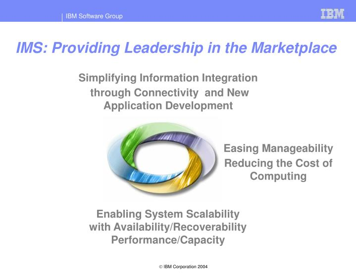 IMS: Providing Leadership in the Marketplace