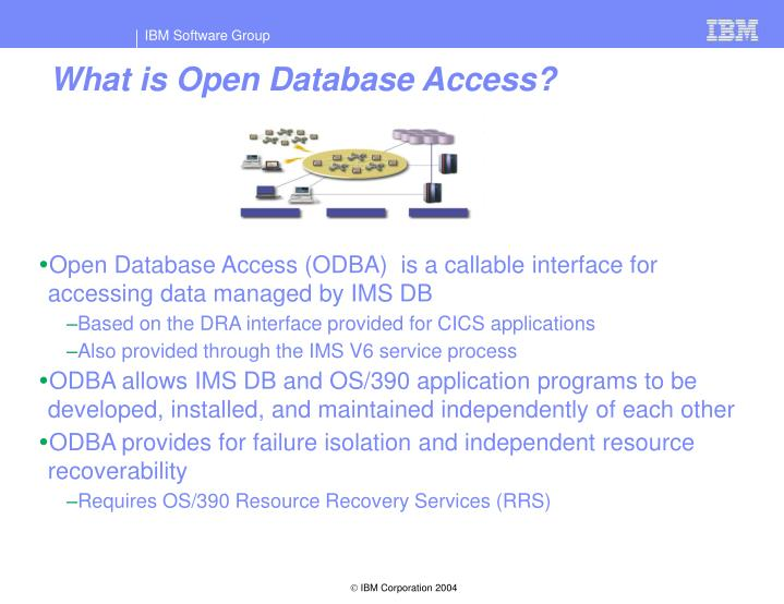 What is Open Database Access?